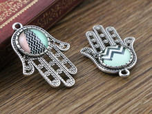 Buy 14pcs 12mm Inner Size Antique Silver Plated Hand Style Cabochon Base Cameo Setting Charms Pendant Tray (A1-15) for $1.68 in AliExpress store