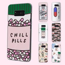funny Chills Pills Chocolate Nutell design transparent phone shell Case for Samsung Galaxy S8 Plus S6 S7edge S5 S4 mini Note 7 5