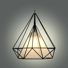 Pyramid,Diamond,Cage Pendant Lamp Modern Vintage industrial Edison Bulbs fixtures Bar, cafe,Restaurant Bedrooms loft Dining room