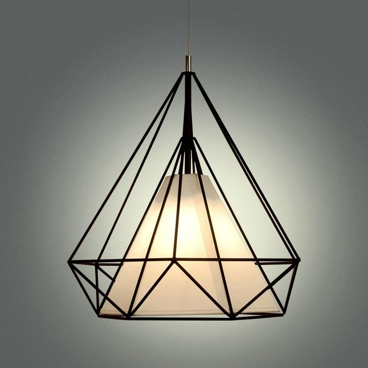 Pyramid,Diamond,Cage Pendant Lamp Modern Vintage industrial Edison Bulbs fixtures Bar, cafe,Restaurant Bedrooms loft Dining room<br>
