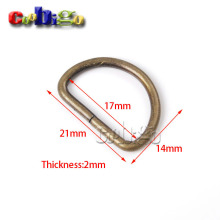 "10pcs 0.67""(17mm) NonWelded Dee Rings D-Ring Plated Bronze Strapping Webbing Dog Cat Collar Backpack Bag Part Accessories#FLQ017(China)"