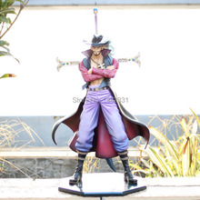 28cm One Piece Dracule Mihawk POP DX Hawk Eye Ver.2 10th Anniversary Action Figure Loose Free Shipping