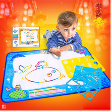 Gift for kids baby Water Drawing Painting Writing Mat Board Magic Pen Doodle Gift 50cmX70cm Birthday Gift Developmental(China)