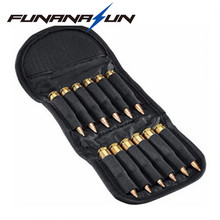 Folding Handgun Cartridge Carrier 12 Rifle Shells Cartridge Carrier Case Molle EDC Rifle Ammo Bag Hunting Bullet Holder Pouch(China)