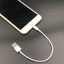 White 20cm 8pin usb cable Sync Data Charger Adapter for iPhone 7 Plus 6 6S Plus 5 5s SE iPad Mini Air Pro Power Bank Cable