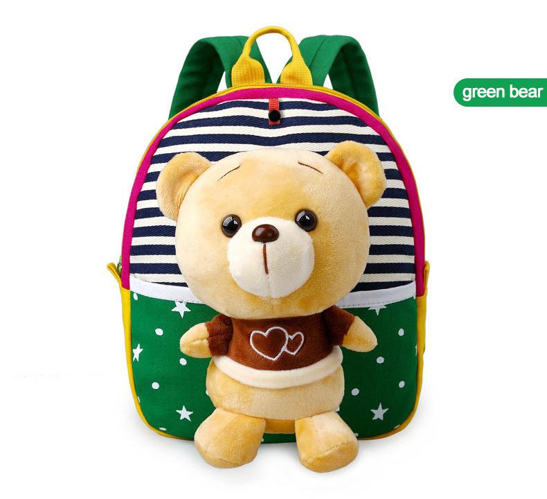 Korean Style Children Toddler Cartoon Stuffed Plush Backpacks baby girls boys cute toys schoolbag backpack (13)
