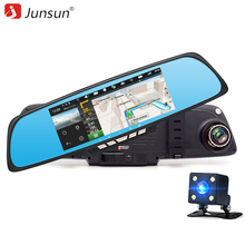 "Junsun 6.86"" Car Camera DVR Mirror Android GPS Navigation Dual Lens Video Recorder Full HD 1080P Rearview Mirror Camera Dash cam"