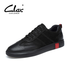 Buy CLAX Men's Leather Shoes Fashion Black Walking Footwear 2018 Spring Autumn Casual Shoe Male Leisure Shoe Big size 38-46 for $42.80 in AliExpress store