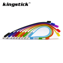 Colorful Silicone Bracelet pen drive 16GB 8GB 4GB Wrist USB Flash Drive 32gb 64gb tape Pendrives memory U Disk(China)