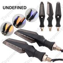Universal Motorbike LED Double Side Turn Signal Blinker Motorcycle Indicators Light Lamp For Bobber Cafe Racer Custom UNDEFINED