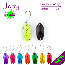 Jerry 2g fishing lures metal hard bait freshwater fishing spoon perch trout lure spinner bait(China)