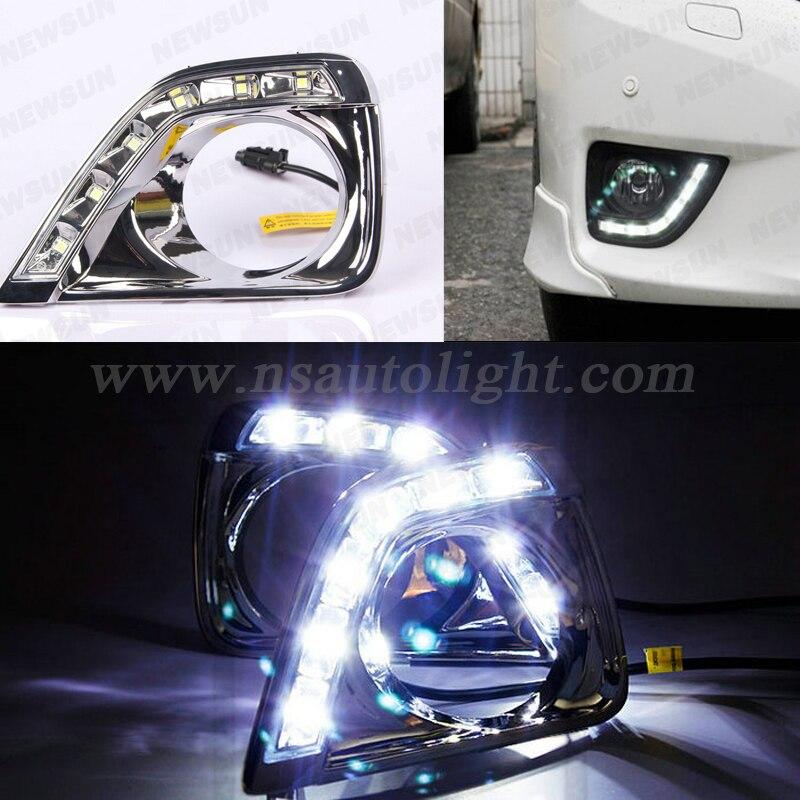 Facrtory supply led drl light for Toyota Reiz 2011 6w 7000K xenon white auto car DRL daytime running light<br><br>Aliexpress