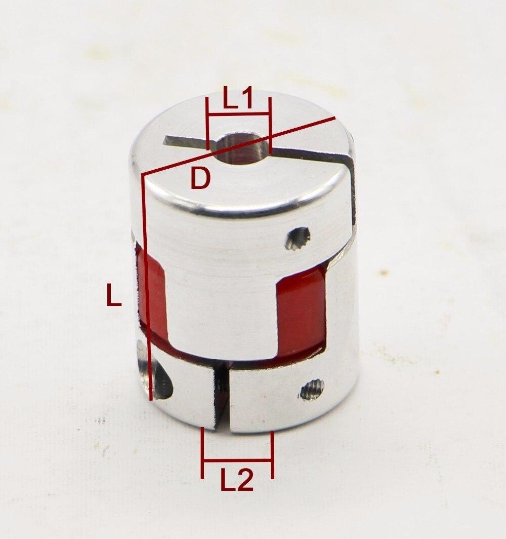 10pcs Aluminium Plum Flexible Shaft Coupling D25 L30 10X6.35mm Motor Connector Flexible Coupler 10mm To 6.35mm<br><br>Aliexpress