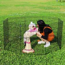 Dog PlayPen Puppy Exercise Fence Cage Tall Panel Kennel Portable Pet Folding SH0015(China)