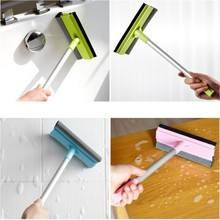 Adjustable Long Handle Cleanning Brush Down Glass Sponge Window Cleaner Brush Bathroom Wipers Also For Car D0