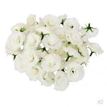 100Pcs Artificial Silk Rose Flower Heads Bulk Home Wedding Party Decor White(China)