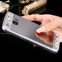 KISSCASE Bling Diamond Case For Samsung Galaxy A5 A3 A7 2016 Glitter Mirror Back Cover Phone Cases Acrylic Coque Accessories