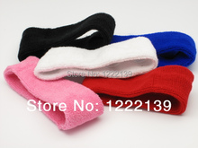 60pcs/lot Fashion TOWEL Headbands Sweatband Exercise Hair Bands Head Wrap Assorted Colors(China)
