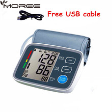 big LCD display Digital Blood Pressure Monitor tonometer sphygmomanometer pulsometros Health Monitor for heart blood(China)
