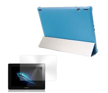sleep leather case + Matte Screen Protector Film for lenovo ideatab s6000 tablet folio flip skin shell cover bag jacket stand(China)