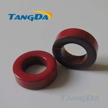 Tangda Iron powder cores T300-2D OD*ID*HT 77*49*25 mm 22.8nH/N2 10uo Iron dust core Ferrite Toroid Core Coating Red gray
