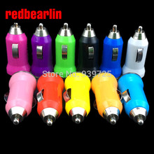 redbearlin 1000mAh Bullet Mini USB2.0 New 1A Car Charger For PDA Mobile Phones For Iphone4 4S Car Charger Adapter For Samsung