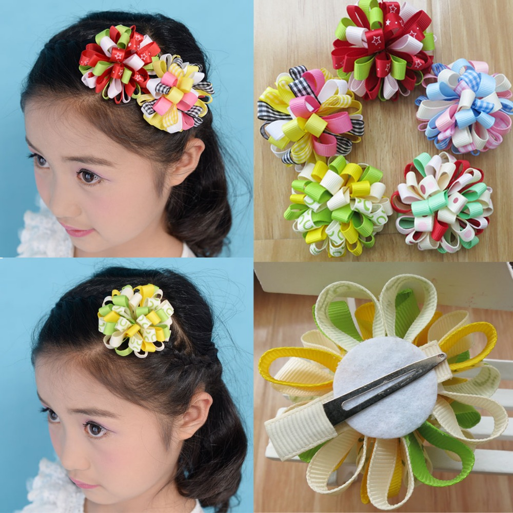 50 Boutique Good Girl B-Loopy puffs Ribbon 2.5 Hair accessories Bow<br>