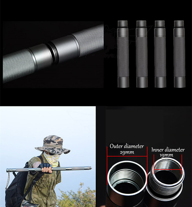Multifunction Safety Emergency Tools Set Aluminum Alloy Self Defense Tactical Stick Outdoor Camping Survival Tool Car Equipment (23)