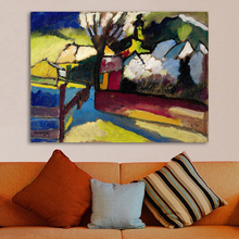 HDARTISAN Abstract Wall Art Pictures For Living Room Home Decor Canvas Art Oil Painting Wassily Kandinsky Impressive landscape(China)