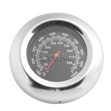 Stainless Steel BBQ Barbecue Smoker Grill Thermometer Temperature Gauge 50-500C New #S018Y# High Quality