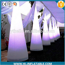 Hot wedding use led lighted inflatable pillar decoration