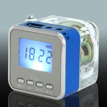 Mini NIZHI TT-028 LED Speaker  Display USB2.0 FM SD For  IPhone  IPad  Ipod  MP3 PC 5 Colors