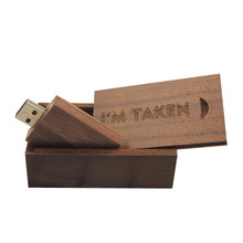Wooden Gift Usb Stick 4GB 8GB 16GB pendrive 32GB Flash Memory Mini Usb 2.0 Flash Drive Stick Pen Drive Key Free LOGO over 10pcs(China)