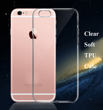 New Soft ultra Slim Clear Silicone Transparent Tpu Case For iPhone 7 7 Plus 6 6s Plus 4 5 5s SE Crystal Back Cover Protect Skin