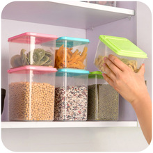 Free Shipping Kitchen Clamshell Food Storage Box Storage Tank Airtight Containers Sealed Cans Of Whole Grains F3532