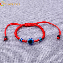 New Hot Lucky Red Rope Strings Thread Women Bracelets Resin Beads Blue Eyes Couples Lovers Chakra Bracelets Gifts(China)