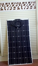 Packaged sales 2X 100W watt 12V Semi Flexible solar panel 200W in Total A power full