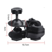 Photo Studio Double head U Clip Clamp with Ball Head Bracket for Camera Flash Light Stand