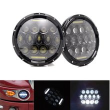 7 Inch Round Led Headlights With DRL For Kenworth T2000 T-2000 1998-2010 Tractor Trailer Truck Lamps For Jeep Wrangler JK TJ LJ