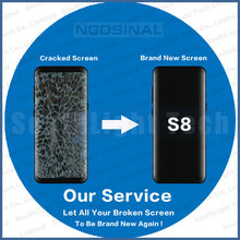 Original Repair Service For Samsung Galaxy S8 LCD Screen G950 Touch Display Assembly With Frame Cracked Glass Digitizer Renew(Hong Kong,China)