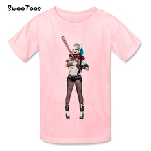 Suicide Squad T Shirt Kid 100% Cotton Toddler O Neck Baby Tshirt Children Infant Tees 2017 Harley Quinn T-shirt For Boy Girl