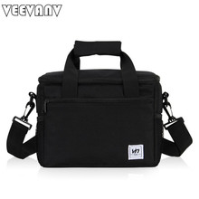 VEEVANV 2017 Folding Large Meal Package Lunch Bag Crossbody Women Child Cold Storage Take-away Shoulder Bags Ice Pack Cooler Bag