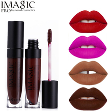 Imagic Brand Makeup 19 Color Lip Gloss Velvet Matte Lipgloss Waterproof Lip Kit Tattoo Batom Liquid Pomade Red Nude Labiales(China)