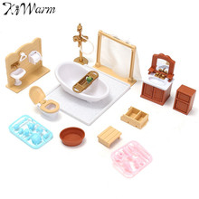1 Set Miniatures Sofa Bedroom Bathroom Dining Table Furniture Ornaments Doll House Craft Toys Kids Christmas Birthday Gift