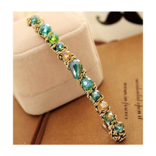 South Korea Imported Hair Barrette Korean Colorful Irregular Crystal Rhinestone Clamp zx*MHM074G#C9