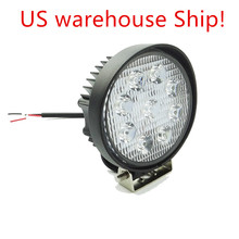 2pcs US Ship! 27W LED Work Light Bar Indicators Spot Flood Driving Offroad Boat Car Tractor Truck 4x4 SUV ATV Working Lamp
