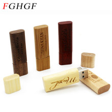 FGHGF Wooden bamboo redwood USB flash drive pendriver wood chip pendrive 8GB memory stick U disk mini novetly Gift(China)