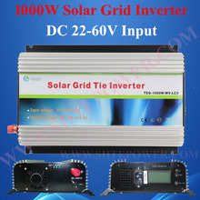 24v 36v 48v DC to 110v 120v 220v AC solar grid pv power inverters 1000w grid tie with MPPT function