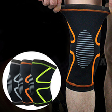 1PCS Elastic Knee Support Adjust Bamboo Charcoal Knee Pads Brace Kneepad Volleyball Basketball Safety Guard Strap M L XL