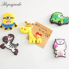 10 pcs Cute cartoon Decorative magnet fridge magnets Early Learning Set for Children Toy Refrigerator Magnetic Sticker AU228